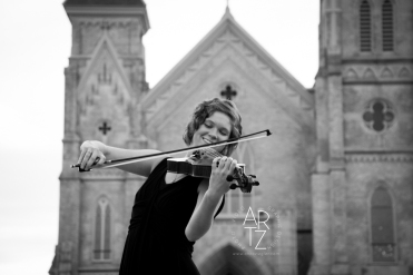 Karmyn wanted to include pictures of the cathedral where she often played her viola