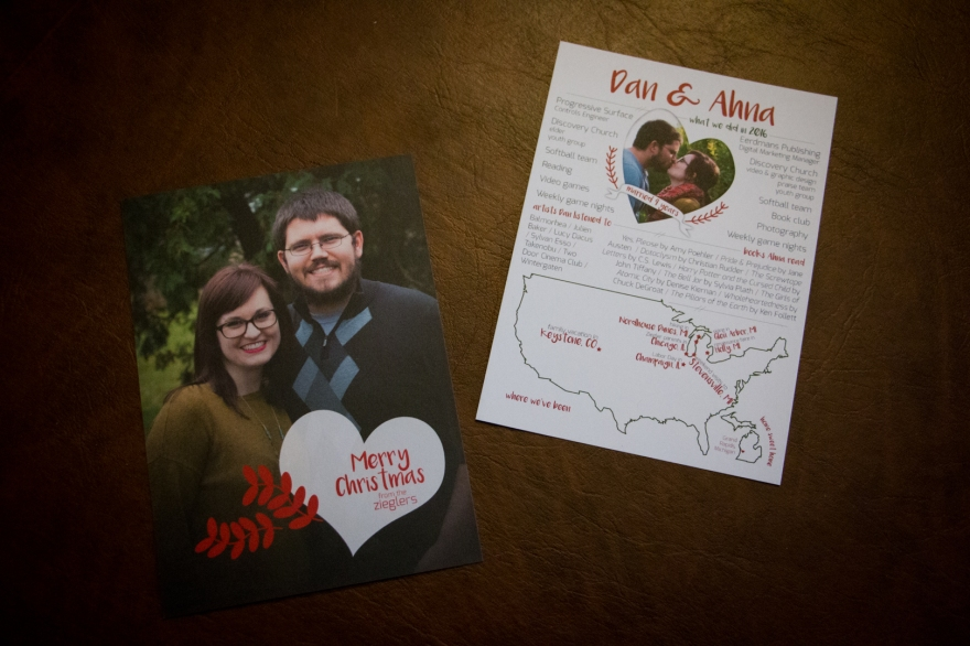Christmas Card infographic front & back